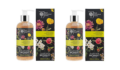 2x Bronnley NATURAL GARDENS THERAPY Exfoliating Hand Wash 250ml