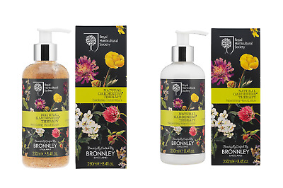DUO Bronnley NATURAL GARDENS THERAPY Exfoliating Hand Wash + Hand Lotion (2x250)
