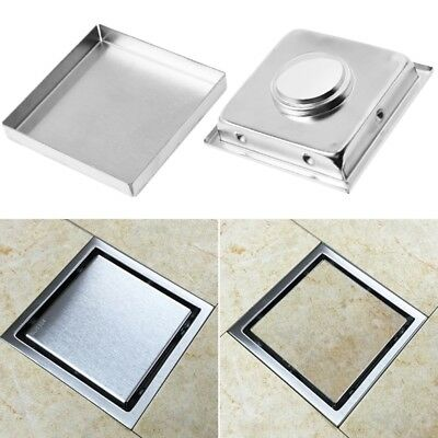 304 Stainless Steel Invisible Bathroom Waste Strainer Square Shower Floor Drain
