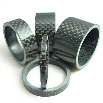 3/5/10/15/20mm Carbon Fiber Washer Spacer 28.6mm For Stem Bike MTB Bicycle UK