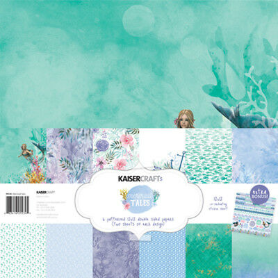 "Mermaid Tales PK534 Kaisercraft 12""x12"" Paper Collection & Bonus Sticker Sheet"