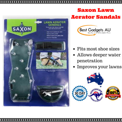 Saxon Lawn Aerator Sandal Improves Lawns Fits Most Shoe Sizes NEW