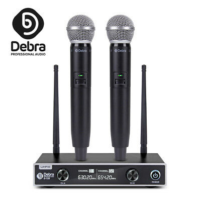 Debra Audio D-120 UHF Wireless Microphone System with two handheld Mic for party
