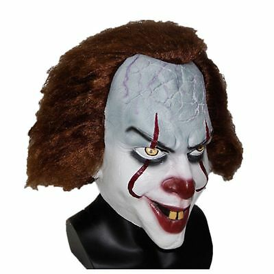 Halloween Prop For Stephen King's IT Pennywise Non toxic Clown Cosplay Mask
