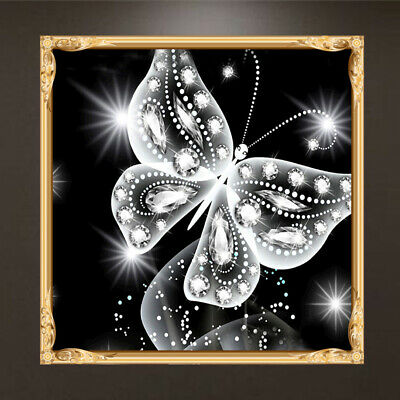 DIY Butterfly Painting 5D Diamond Embroidery Cross Stitch Craft Kit Home Decor