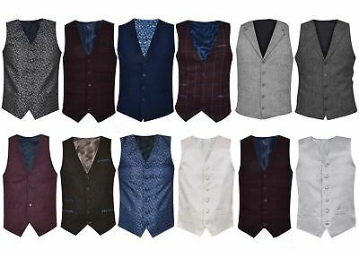 Mens Waistcoat Party Tops Suit Vest Slim Fit  Wedding Design Formal Casual Coat
