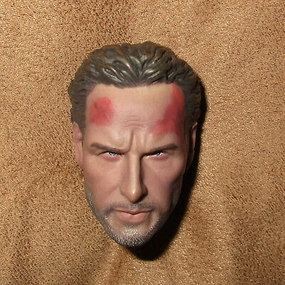 1/6 Scale Rick Grimes Head - Kopf Headsculpt Sculpt The Walking Dead TWD Injured