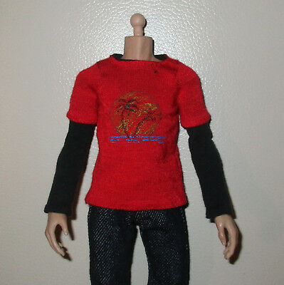 1/6 Scale Custom Last of Us Ellie T-Shirt Hemd for Actionfigur Asmus Toys Body