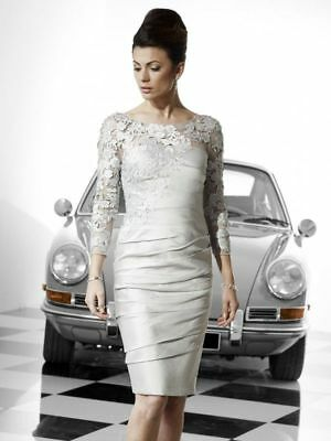Ir 8501 Irresistible Veromia Dress Size 12 Mother Of Bride New Silver