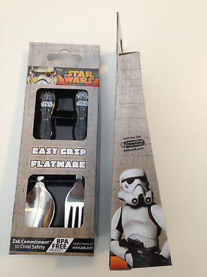 NEW Disney STAR WARS Cutlery Zak EASY GRIP Kids Flatware Spoon Fork SET BPA Free