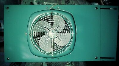 Vintage Mid Century Industrial Parklane Turnabout Turquoise Window Fan Rare