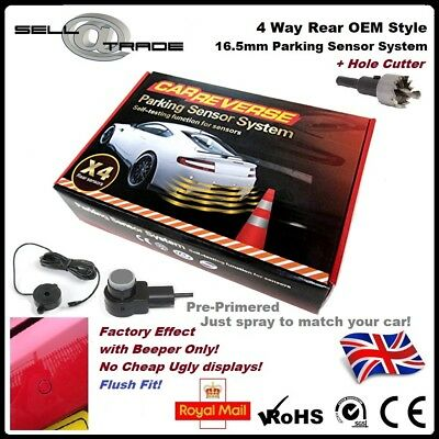OEM Style Flush Fit 4 Rear Reversing Parking Sensor Kit 16.5mm Audi VW BMW Merc