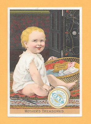 Victorian Trade Card, Sewing Machine, Clark's Ont Spool Cotton