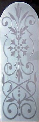 Etched & Brilliant Cut Floral Arched Window Panel