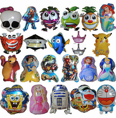 Kids Boys/girls Themed Supershap Balloon Birthday Party Supplies -1Pce