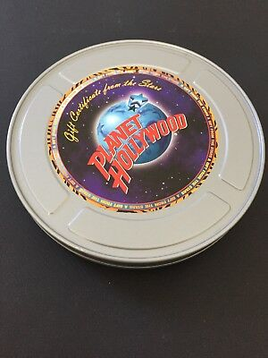 PLANET HOLLYWOOD Movie Reel Gift Certificate Tin