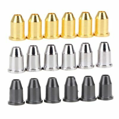 6 x Body String Bullet Ferrules for Telecaster Strat Chrome,Black,Gold