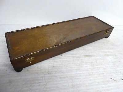 Antique Oak Empty Fitted Carving Set Cutlery Presentation Case