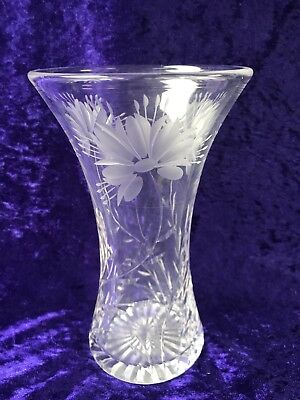 Stuart Crystal FLEUR COLLECTION Cornflower Glass Vase