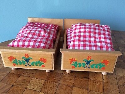 Bett Betten Vero Puppenstube Puppenhaus 1:12 dollhouse bed