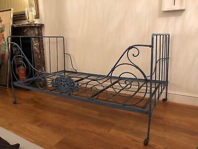 Antique French style metal bed frame