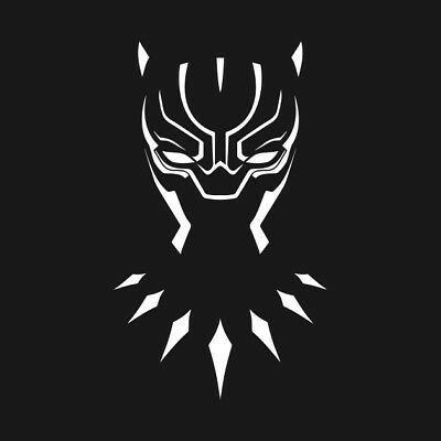 Black panther vinyl decal sticker