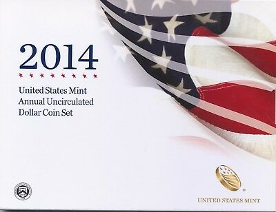 2014 Annual Uncirculated Dollar Coin Set Mint Fresh 2014 W Burnished Slver Eagle