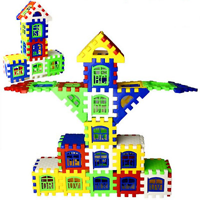 Houses building blocks DIY assembly square construction bricks toy baby kid gift
