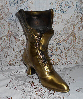 Bronze/gold Color Cast Iron Boot Home Garden  Decor