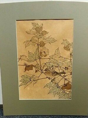 Antique Imao Keinen Japanese Woodblock Print N0. 22  Mounted On Board & Matted