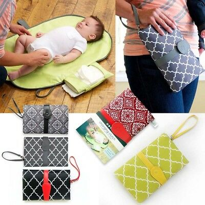 Baby Portable Folding Diaper Travel Changing Pad Waterproof Mat Bag Storage 2018
