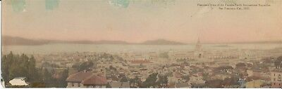 Panoramic PPIE Panama Pacific Exposition Post Card Carl G Larsen Birds Eye View