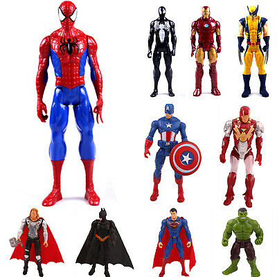 Marvel The Avengers Super Heroes Spiderman Captain Wolverine Action Figures Toys