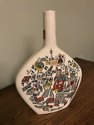 Vintage Munich Anton Riemerschmid Escorial Grun Liqueur Bottle (empty)