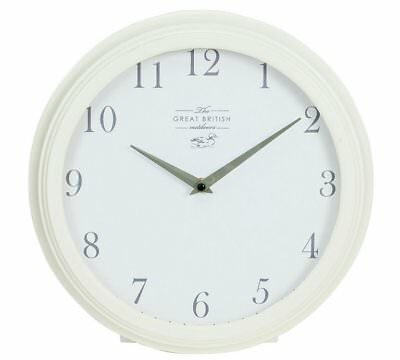 Great British Meadow Wall Clock Ivory Classic Vintage Retro Design Watch Time