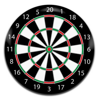 Dartboard Sports Novelty 25mm / 1 Inch D Pin Button Badge