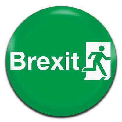 Brexit Exit Sign Novelty Politics 25mm / 1 Inch D Pin Button Badge