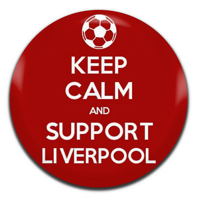 Keep Calm And Support Liverpool 25mm / 1 Inch D Pin Button Badge