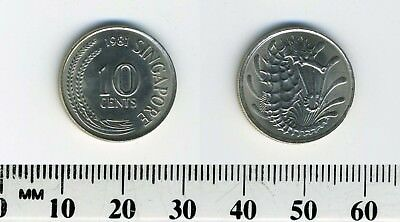 Singapore 1981 - 10 Cents Copper-Nickel Coin - Stylized Spotted Seahorse