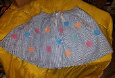 Cat & Jack Girl's [Size: XL (14/16)] Blue Sequined Dot Skirt <New with Tags >