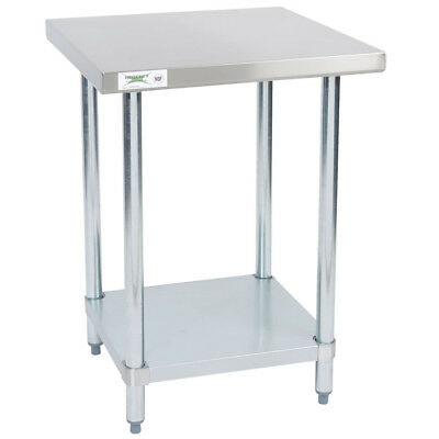 """24"""" x 24"""" Stainless Steel NSF Commercial Kitchen Work Table with Undershelf"""