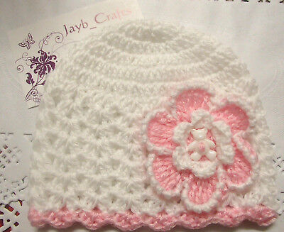 Handmade Crochet Baby Hat in Bella Baby Wonder 4ply yarn FH314