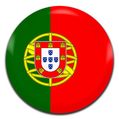 Portugal Flag 25mm / 1 Inch D Pin Button Badge