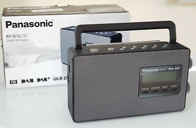 PANASONIC RF-D10EB-K Portable DAB+ Radio LCD Display Mains & Battery Black