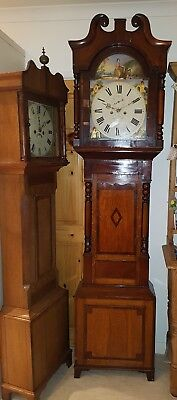 Very Nice 19th C Leeds maker 8 DAY LONGCASE CLOCK Painted Dial