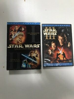 Star Wars Episodes I  II III 3-Pack (DVD 6-Disc Set, Full Frame) Ewan McGregor