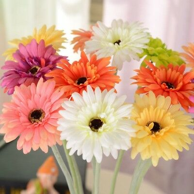 Home African Hot Silk -6 Flowers Artificial Wedding Party Daisy color Decor