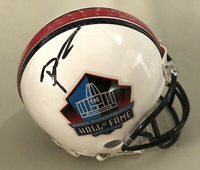 9e8d71977b0 Brian Urlacher Signed Autographed Chicago Bear Hall Of Fame Mini Helmet  Proof