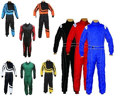 Kids Children New Karting Race Overall Suits Poly cotton Indoor & Outdoor NEW