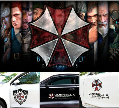 Resident Evil Umbrella Corporation Outbreak car Door sticker decal 3M reflective
